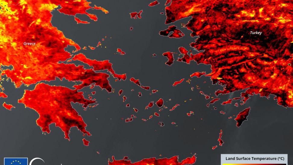 Βαρυμπόμπη: Δορυφορικές εικόνες από το πύρινο μέτωπο χθες και σήμερα – Στο «κόκκινο» η Ελλάδα